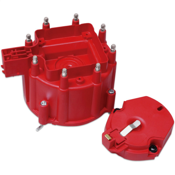 Distributor Cap and Rotor, GM HEI Distributor, Red
