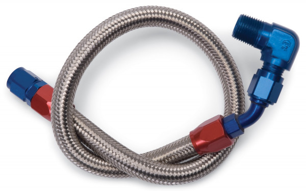 Fuel Hose Braided Stainless, For AMC, Chevy BB, Ford SB & 429/460, & Pontiac