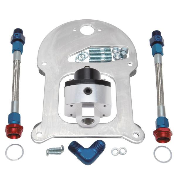 Fuel Pressure Regulator Kit, Dual outlet, Standard-Flange
