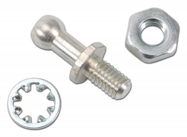 Ball End Stud, 0.25 inch, Ford/Holley