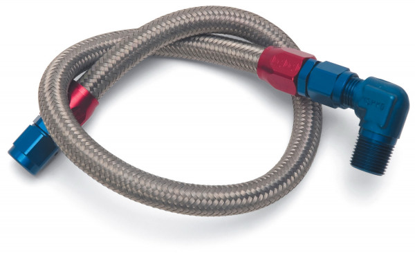 Fuel Hose Braided Stainless, For Chevy SB, Chrysler SB & BB