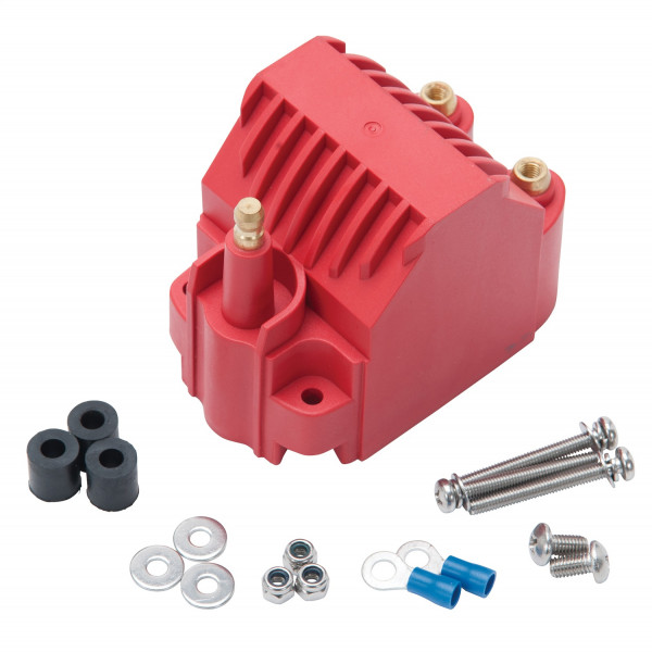 Max-Fire Ignition Universal High Output Dome Style Ignition Coil in Red Finish