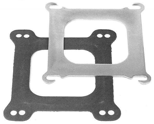 Adapter Square-Bore, for Edelbrock's Spread Bore Manifolds